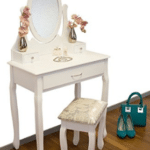 Childrens dressing tables with mirrors and stool