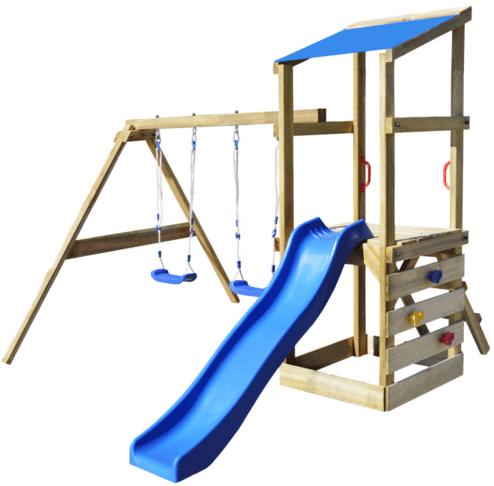 Wooden Garden Kids Playhouse Set