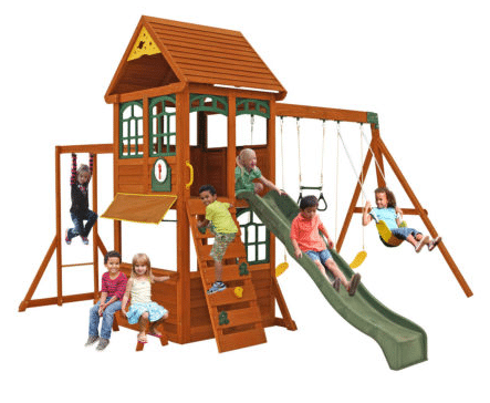 Climbing Frame With Monkey Bars, Swings and Slide