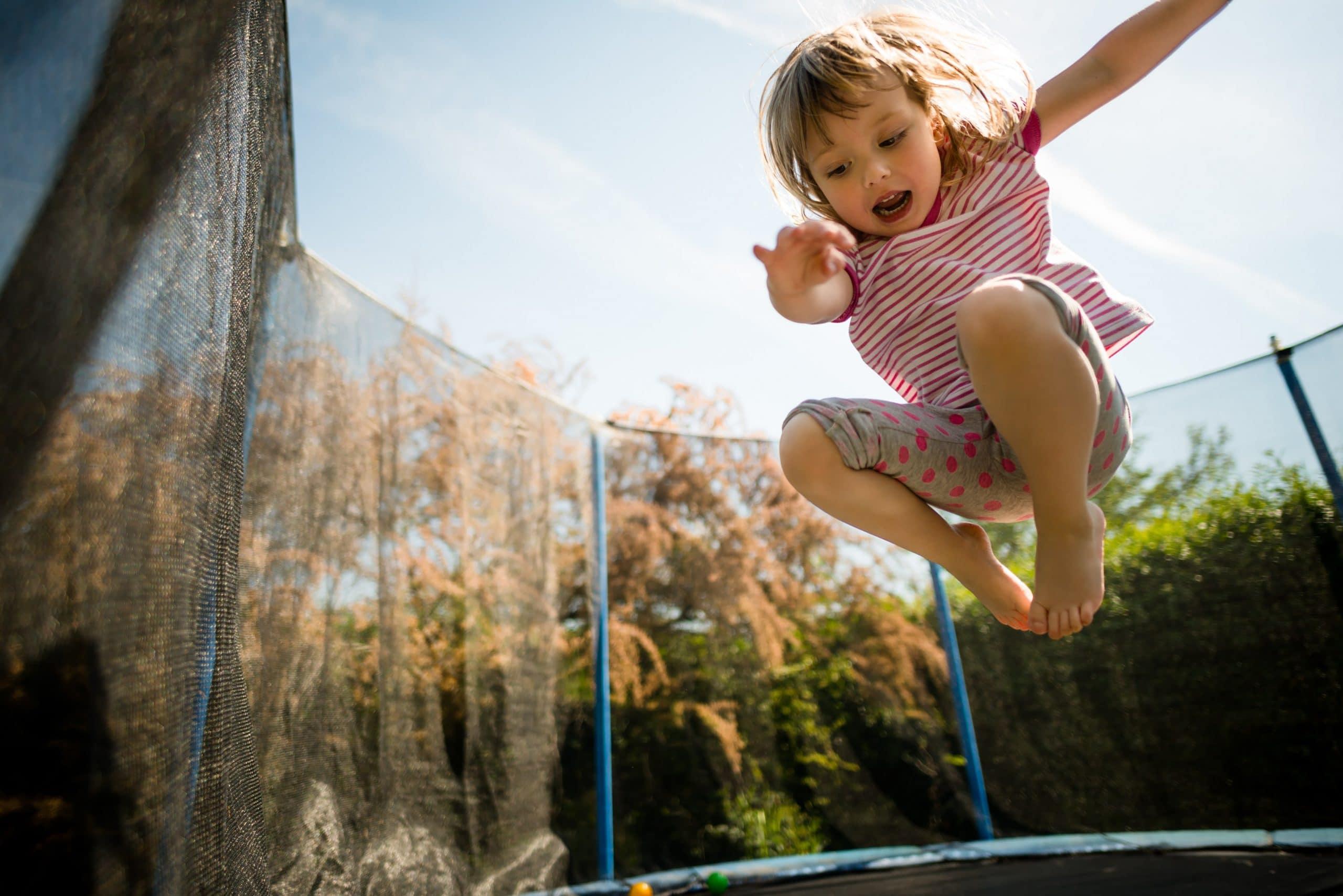 Kid on 6ft trampoline