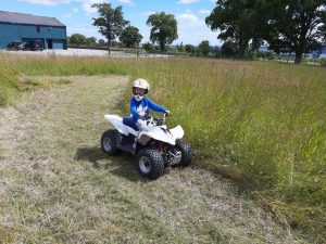 Quads are also for Girls. Here is my 6-year old girl flooring the speeder!