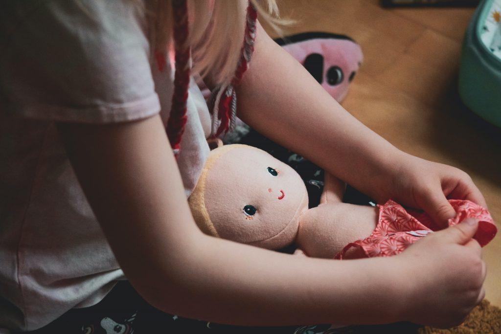 wooden dolls pram 1